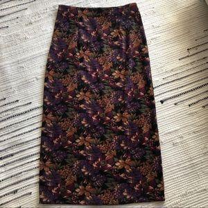Purple floral Briggs maxi skirt